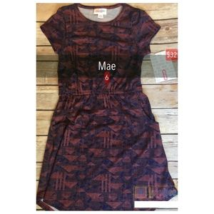 NWT Lularoe Kids Mae Dress Size 6